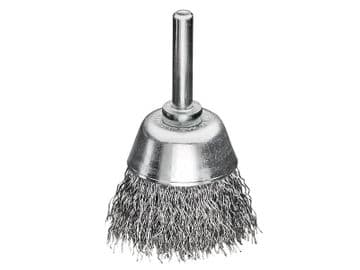 Cup Brush with Shank D40mm x H15mm, 0.30 Steel Wire
